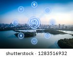 5g network wireless systems and ... | Shutterstock . vector #1283516932