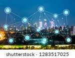 5g network wireless systems and ... | Shutterstock . vector #1283517025
