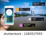 navigation information... | Shutterstock . vector #1283517055
