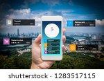 navigation information... | Shutterstock . vector #1283517115