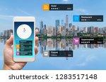 navigation information... | Shutterstock . vector #1283517148