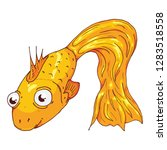 fish hand drawn. vector... | Shutterstock .eps vector #1283518558