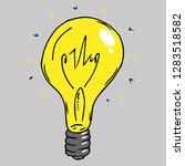 incandescent lamp hand drawn.... | Shutterstock .eps vector #1283518582