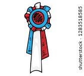 abstraction medal  reward hand... | Shutterstock .eps vector #1283518585