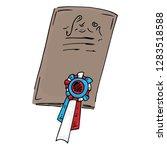 diploma  reward hand drawn.... | Shutterstock .eps vector #1283518588