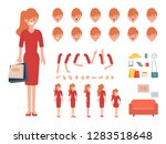 businesswoman character for... | Shutterstock .eps vector #1283518648