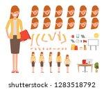 businesswoman character for... | Shutterstock .eps vector #1283518792