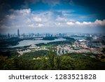 blue tone city scape  | Shutterstock . vector #1283521828