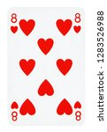 eight of hearts playing card  ... | Shutterstock . vector #1283526988