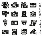 vector black video and camera... | Shutterstock .eps vector #1283531902
