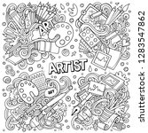 line art vector hand drawn... | Shutterstock .eps vector #1283547862