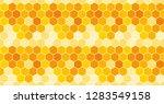 seamless honeycomb pattern.... | Shutterstock .eps vector #1283549158