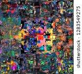 abstract grunge style digital...   Shutterstock . vector #1283549275