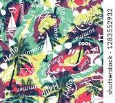 abstract beautiful seamless... | Shutterstock .eps vector #1283552932