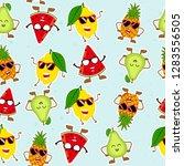 fruit seamlees pattern.modern... | Shutterstock .eps vector #1283556505