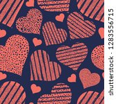 hearts seamless pattern... | Shutterstock .eps vector #1283556715