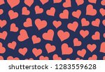 hearts seamless pattern... | Shutterstock .eps vector #1283559628
