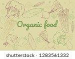 organic food. set of vegetables.... | Shutterstock .eps vector #1283561332