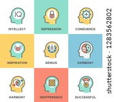 icons psychology of personality.... | Shutterstock .eps vector #1283562802