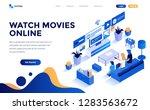 modern flat design isometric... | Shutterstock .eps vector #1283563672