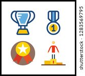 4 championship icon. vector... | Shutterstock .eps vector #1283569795