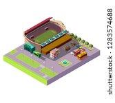 city public isometric stadium... | Shutterstock .eps vector #1283574688