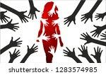 women sexual harassment  | Shutterstock .eps vector #1283574985