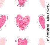 pink hearts. vector seamless... | Shutterstock .eps vector #1283576962
