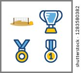 4 championship icon. vector... | Shutterstock .eps vector #1283580382