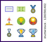 9 championship icon. vector... | Shutterstock .eps vector #1283581402