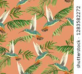 seamless tropical pattern with... | Shutterstock .eps vector #1283582272