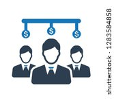 business employer money... | Shutterstock .eps vector #1283584858