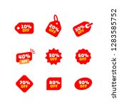 tags set with discount offer.... | Shutterstock .eps vector #1283585752