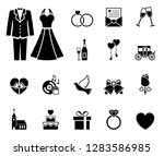 wedding and love icon set | Shutterstock .eps vector #1283586985