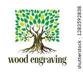 ancient tree logo vector... | Shutterstock .eps vector #1283592838