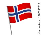 norway flag icon. national flag ... | Shutterstock .eps vector #1283597515