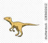 theropod dinosaur. jurassic and ... | Shutterstock .eps vector #1283602612