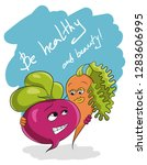 be healthy and beauty slogan... | Shutterstock .eps vector #1283606995