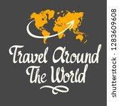 travel handwritten ink... | Shutterstock .eps vector #1283609608
