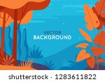 vector abstract illustration in ... | Shutterstock .eps vector #1283611822