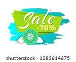 spring sale 70 percent off... | Shutterstock .eps vector #1283614675
