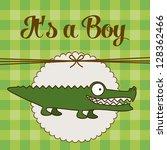 illustration of baby shower... | Shutterstock .eps vector #128362466