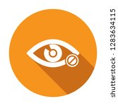 eye icon with not allowed sign. ... | Shutterstock .eps vector #1283634115