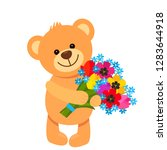 funny character teddy teddy... | Shutterstock .eps vector #1283644918