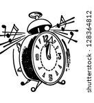 ringing alarm clock   retro... | Shutterstock .eps vector #128364812