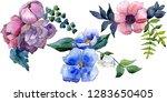 bouquet floral botanical... | Shutterstock . vector #1283650405