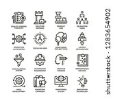 product management line icon set   Shutterstock .eps vector #1283654902