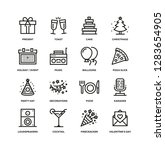 party line icon set | Shutterstock .eps vector #1283654905