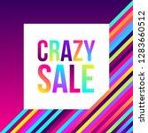 crazy sale web banner  lots of...   Shutterstock .eps vector #1283660512