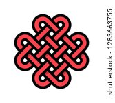 chinese knotting vector ...   Shutterstock .eps vector #1283663755